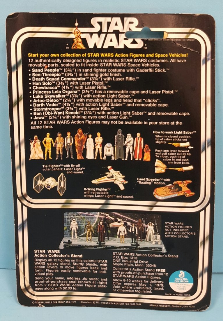 Star Wars Han Solo original Kenner 12 back figure - 2
