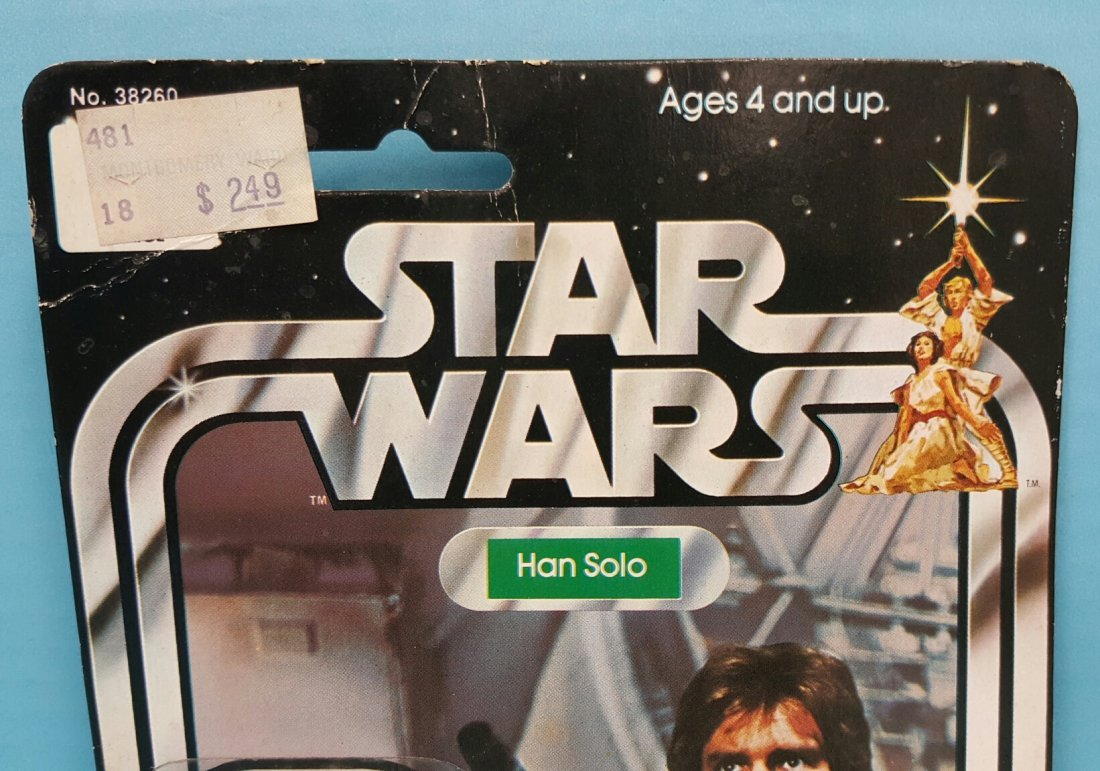 Star Wars Han Solo original Kenner 12 back figure - 3