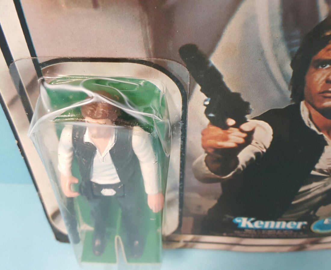 Star Wars Han Solo original Kenner 12 back figure - 4