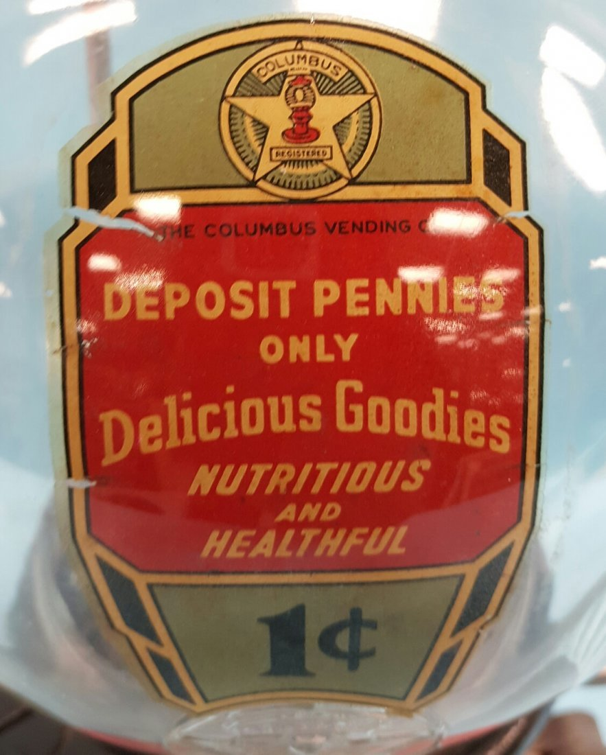 Columbus Peanut Machine 1 Cent Coin Operated - 2
