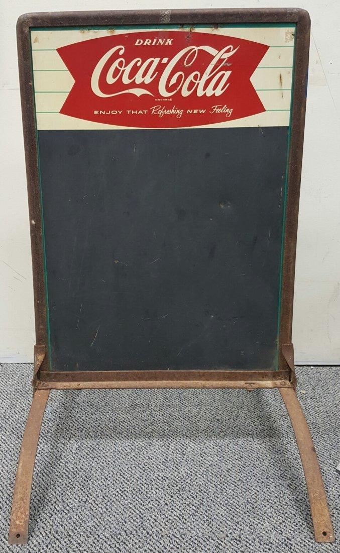 Coca Cola Fishtail Sidewalk Chalkboard Sign