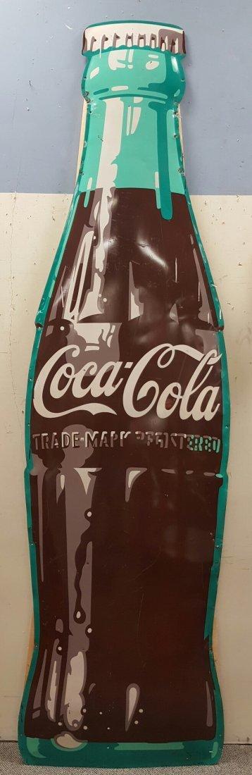 9ft Coca Cola Die Cut Bottling Co. Sign