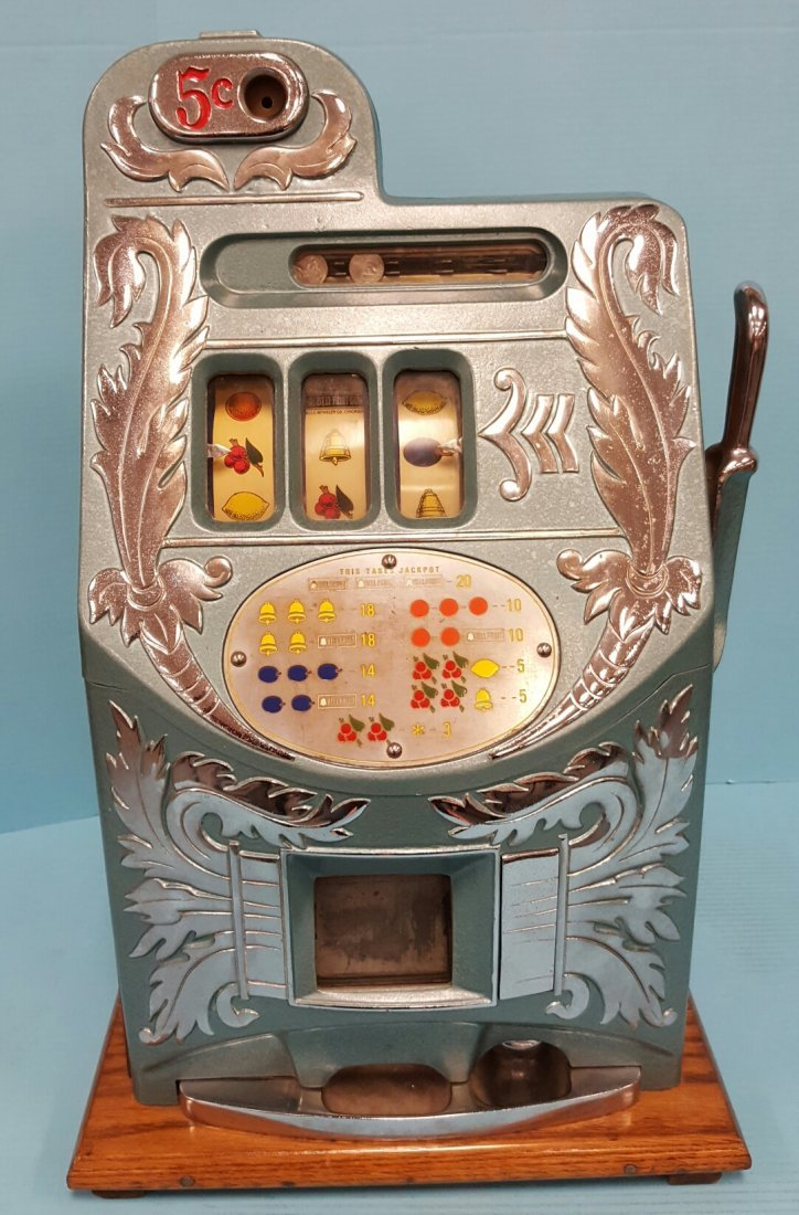 Mills 5 cent Extra Bell Slot Machine Refurbished
