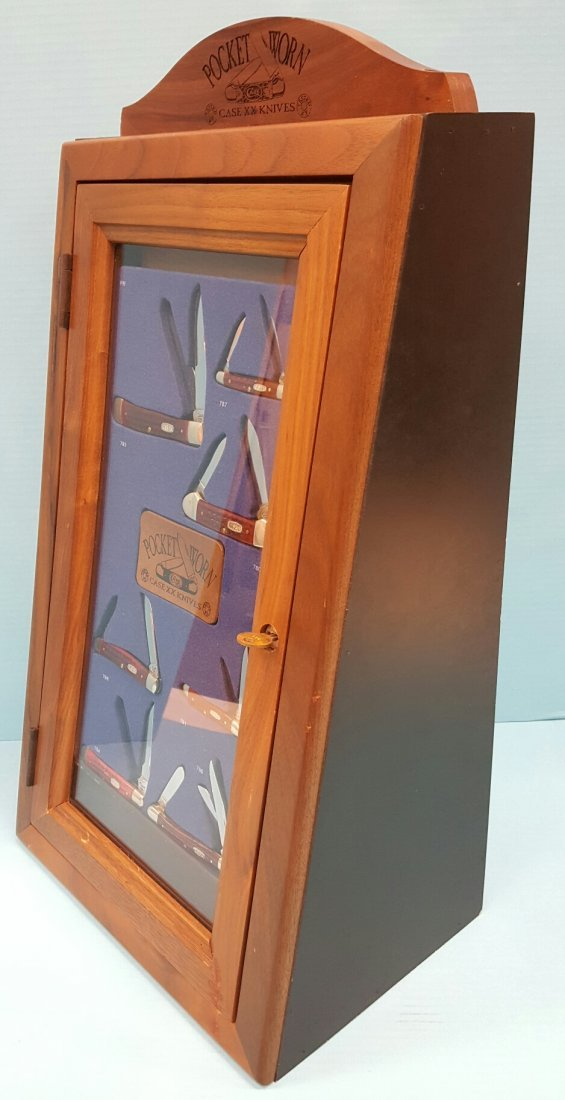 7 Pocket Worn XX Case Knives & Wood Display Case - 5