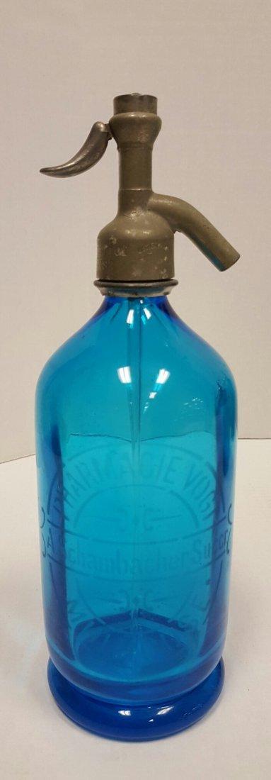 2 Blue Seltzer Bottles Lynch's Special & Pharmacie - 2