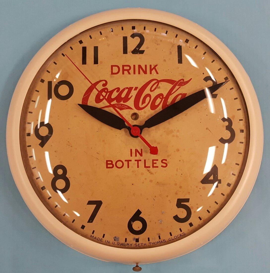 1930's Coca Cola Seth Thomas Clock