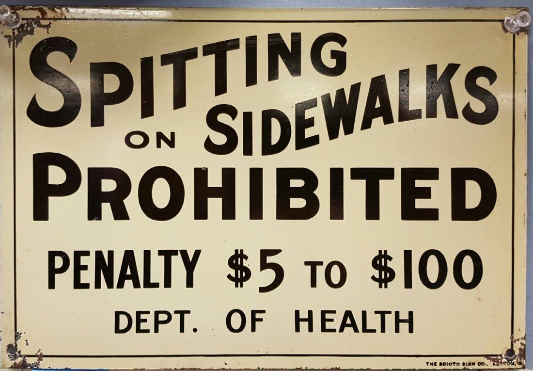 Spitting On Sidewalks Prohibited