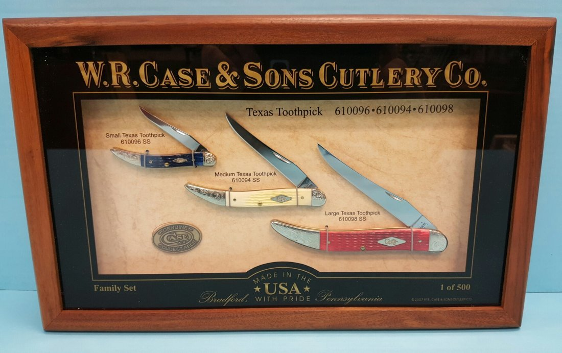 Case Knife Texas Toothpick Commemorative Family Set