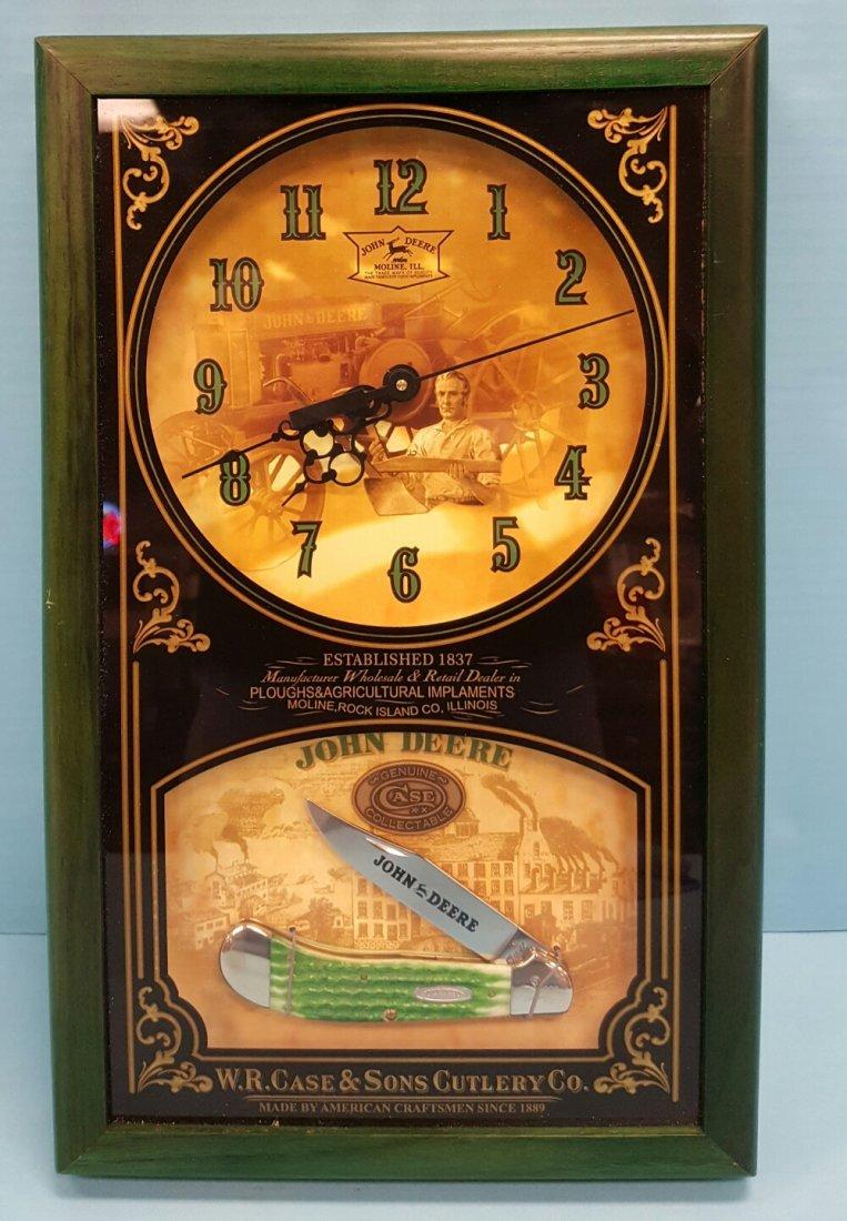 Case Knife John Deere Knife & Clock Set