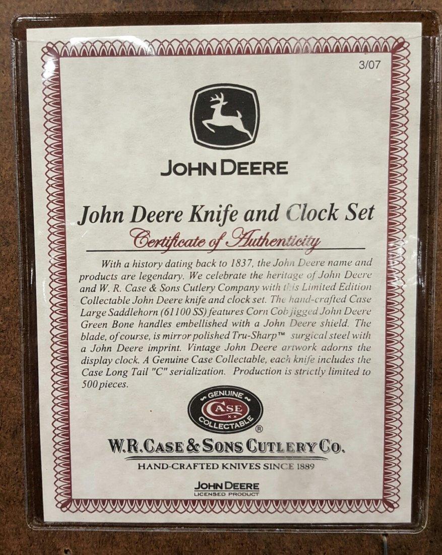 Case Knife John Deere Knife & Clock Set - 2