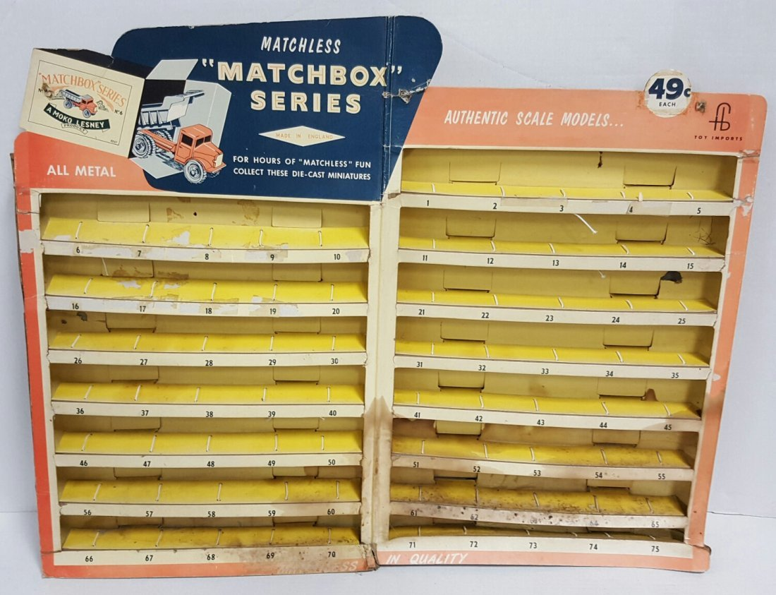 Scarce 1960's Matchbox 1-75 Cars Counter Display