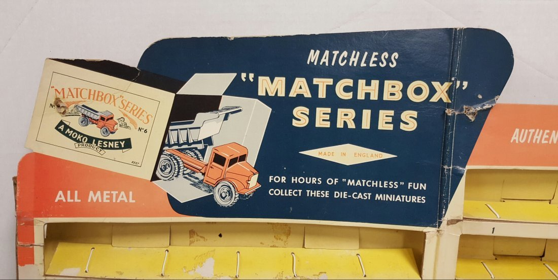 Scarce 1960's Matchbox 1-75 Cars Counter Display - 2