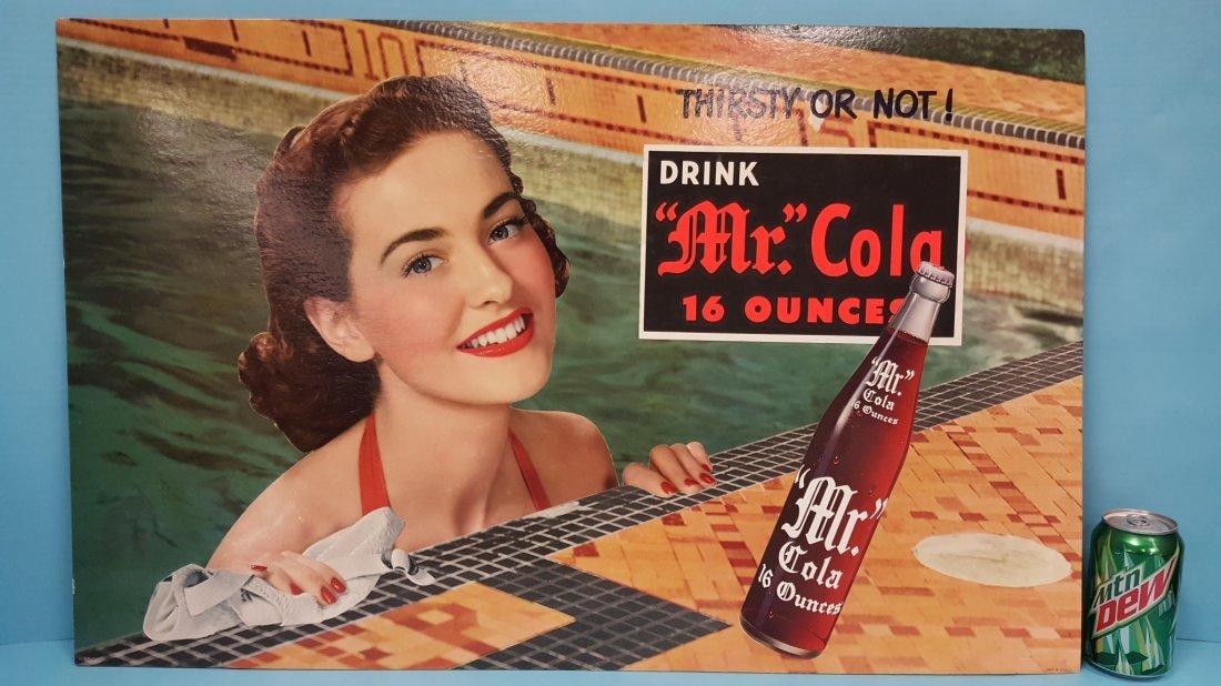 Mr. Cola Cardboard Sign