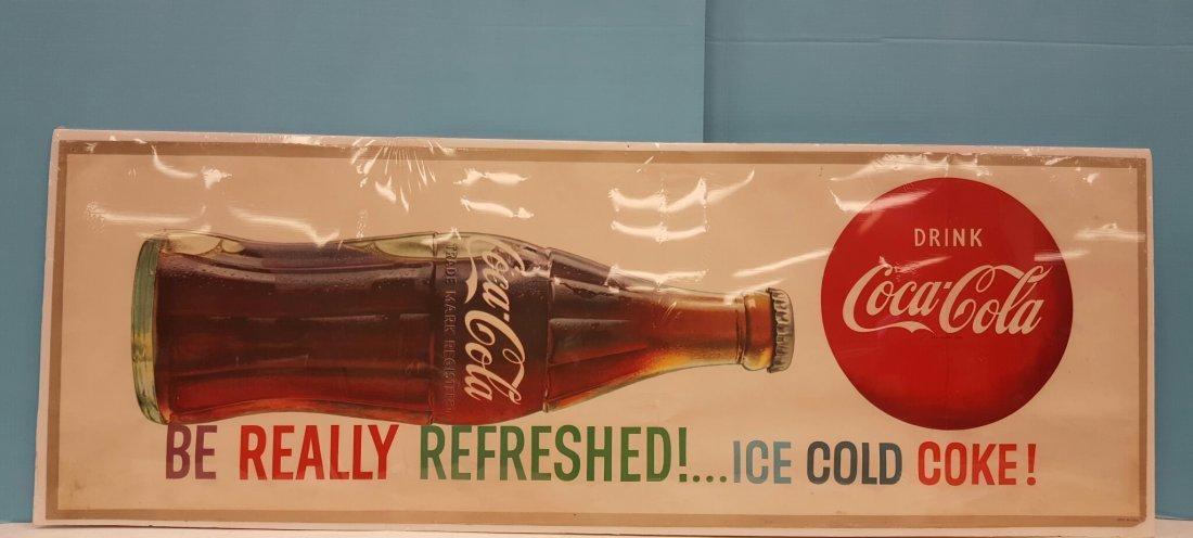 Coca Cola Heavy Paper Banner Sign