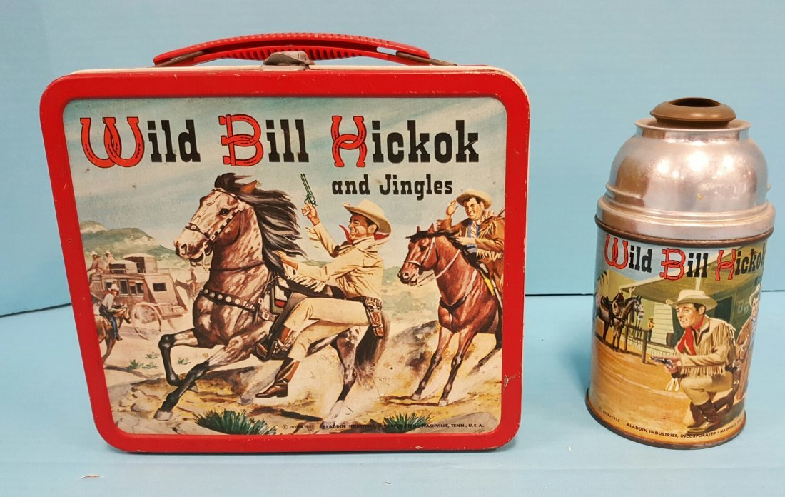 1955 Wild Bill Hickok Lunch Box & Thermos
