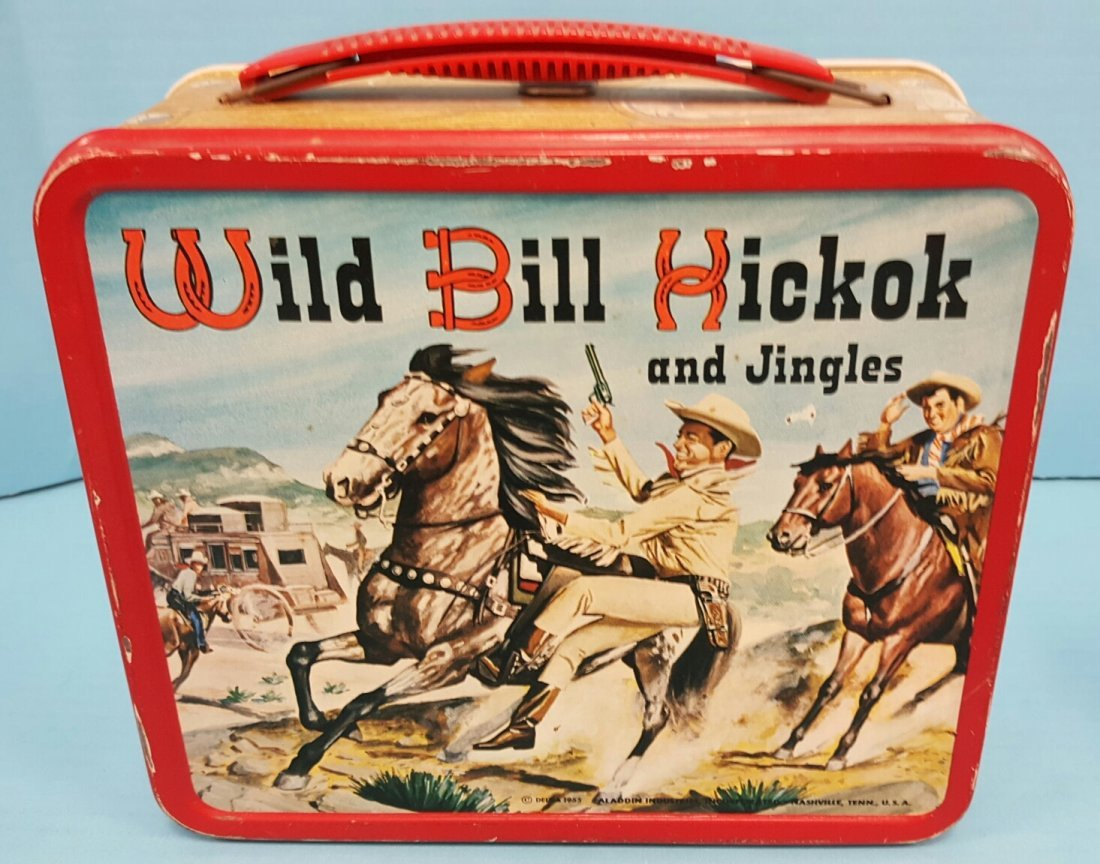1955 Wild Bill Hickok Lunch Box & Thermos - 2