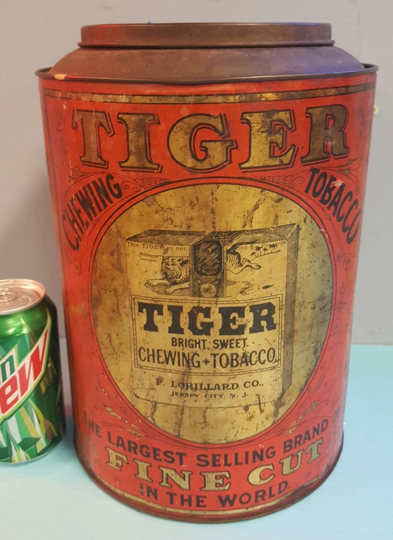 Tiger Chewing Tobacco Tin - 2