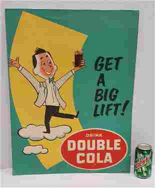 Double Cola Paper on Board Advertising Sign
