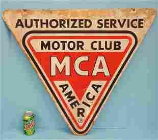 2 sided Motor Club America Sign