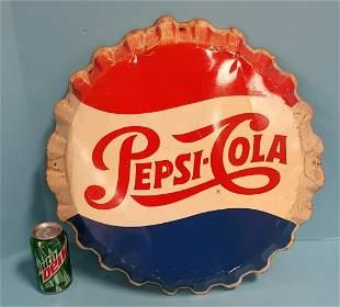 Pepsi Cola Bottle Cap Sign
