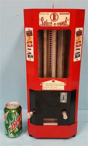 Select O Vend Coin Op Candy Machine