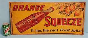 Orange Squeeze Tin Sign