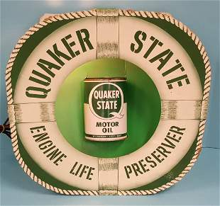 Quaker State Cardboard Oil Can Display
