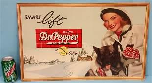 NOS Dr Pepper Cardboard Sign