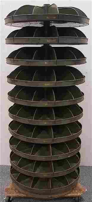 Vintage Hardware Store Rotabin Rotating Bin