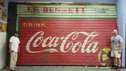 RARE Original Coca Cola General Store Building Sign
