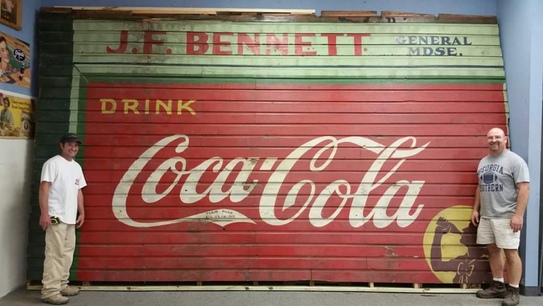 RARE Original Coca Cola General Store Building Sign