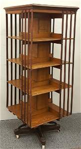 An Edwardian Revolving Bookcase Trubner & Co.