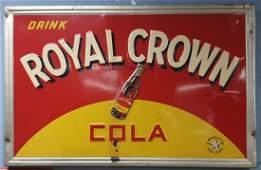 1941 Embossed Drink Royal Crown Cola Sign