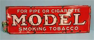 Early Porcelain Model Tobacco Advertising Sign