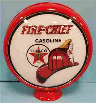 Texaco Fire Chief Gas Pump Globe with metal can
