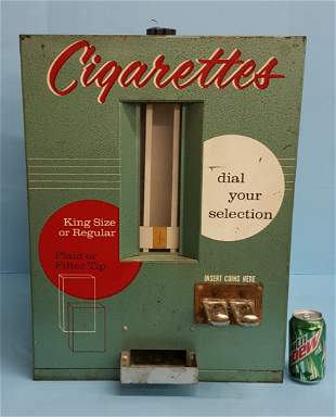 Scarce Vintage Counter Top Cigarette Machine