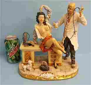 Capodimonte Doctor and Patient Porcelain Statue