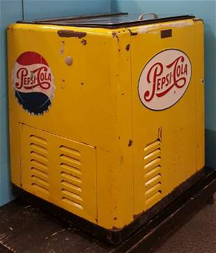 Scarce Pepsi Cola Cola in original yellow color.