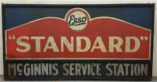 2 Large ESSO Standard McGinnis Service Station signs.