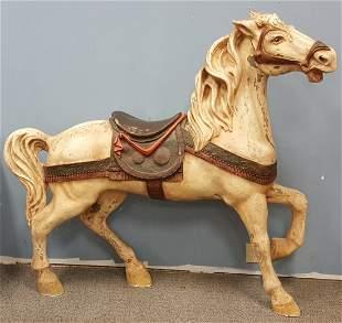 Vintage Fiberglass Carousel Horse