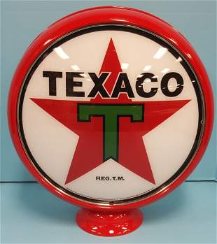 Reproduction Texaco Gas Globe w/ Metal Body