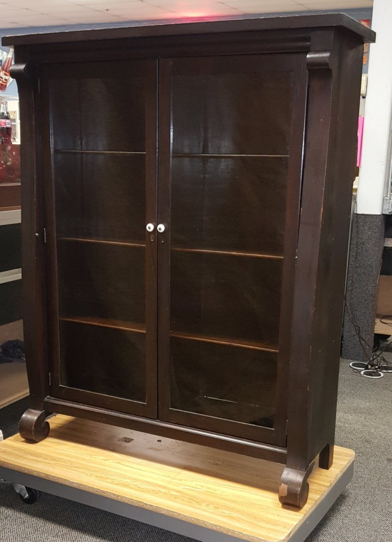 Antique 2 Door Bookcase