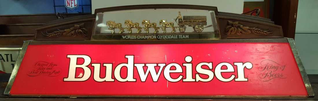 Budweiser Pool Table Light - Budweiser clydesdale pool table light