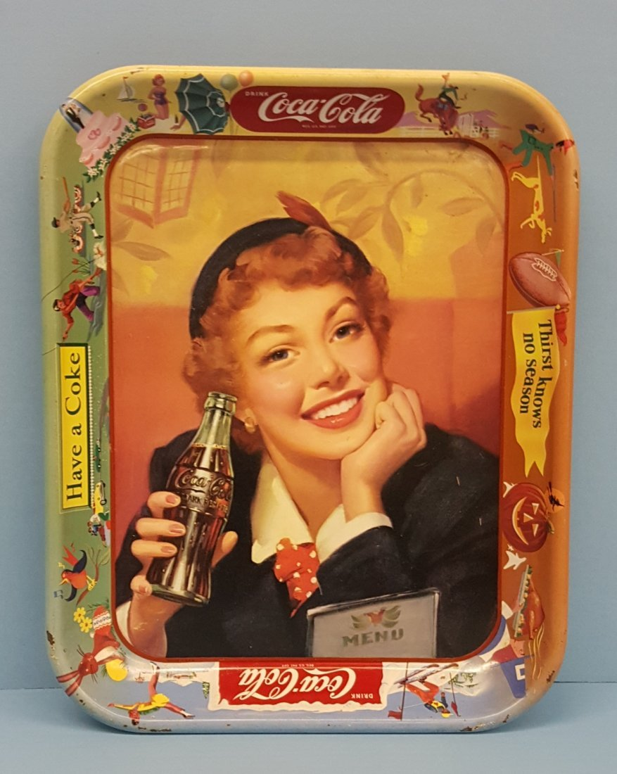 1950's Coca Cola Tray - Thirst Knows No Season