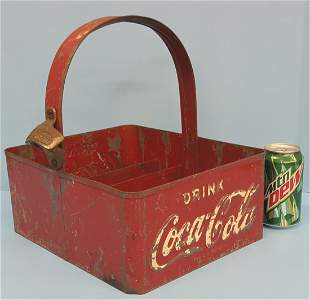 1930's-40's Coca Cola Stadium Vendors Bottle Carrier