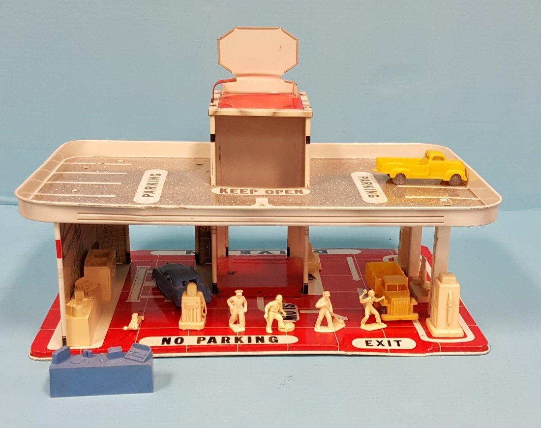 Sears Automotive Center Tin Toy Service Station - 2