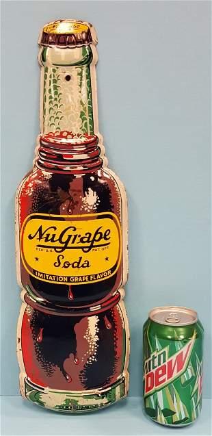 NuGrape die cut bottle sign