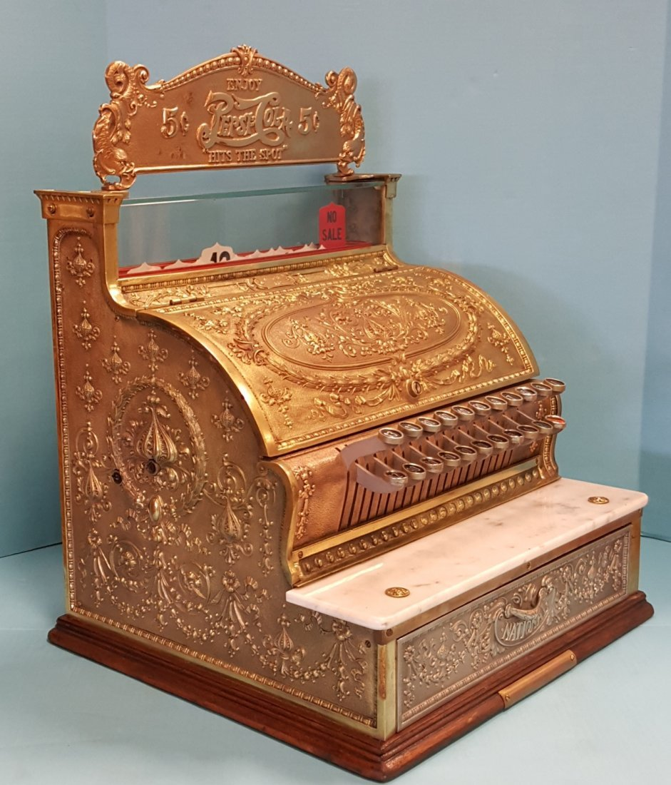 Brass National Cash Register - 3
