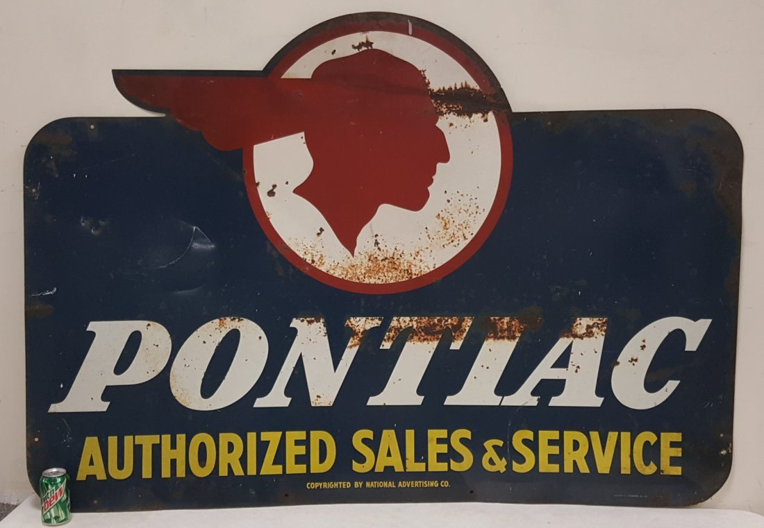 Pontiac Authorized Sales & Service Dealership Sign