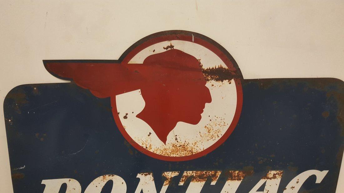 Pontiac Authorized Sales & Service Dealership Sign - 2